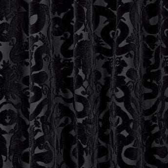 ANACONDA Cut-Velvet Curtain - Noir