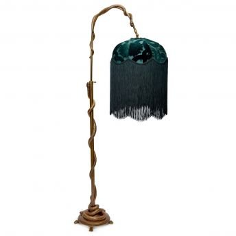 ANACONDA Tilia Petrol Lampshade with Serpentis Overhang Lampstand