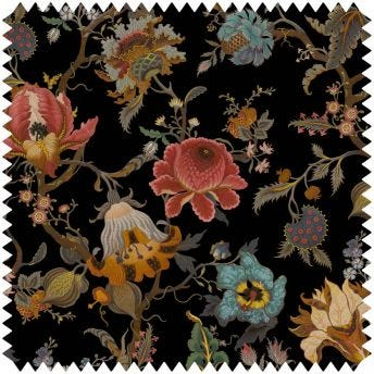 ARTEMIS Velvet Fabric - Black