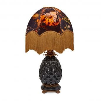 ARTEMIS Oria Black Lampshade with Ananas Pineapple Lampstand