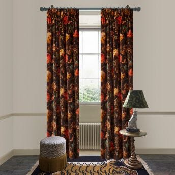 ARTEMIS Velvet Curtain - Black