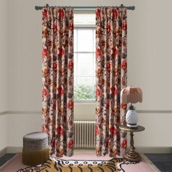 ARTEMIS Velvet Curtain - Dove Grey