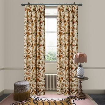 AVALON Cotton Linen Curtain - Ecru