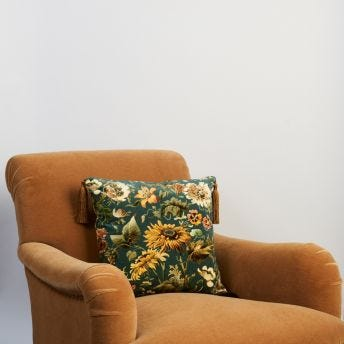 AVALON Medium Velvet Cushion - Petrol