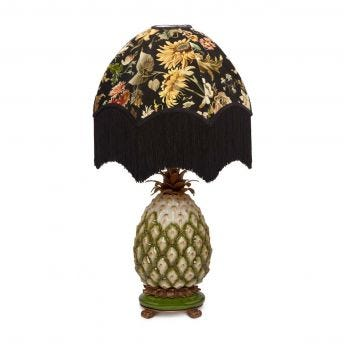 AVALON Oria Noir Lampshade with Ananas Pineapple Lampstand