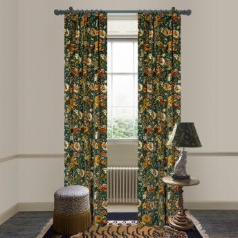 AVALON Velvet Curtain - Petrol