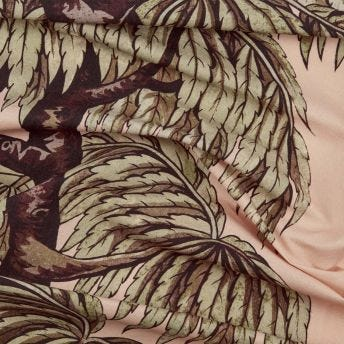 BABYLON Cotton-Linen Fabric - Blush / Willow