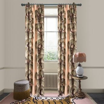 BABYLON Cotton Linen Curtain - Blush Willow