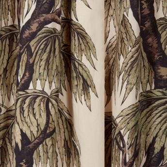 BABYLON Cotton Linen Curtain - Papyrus Willow