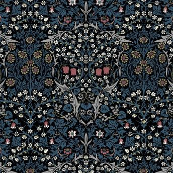 BLACKTHORN Wallpaper - Teal Sample