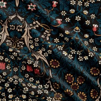 BLACKTHORN Velvet Fabric - Teal