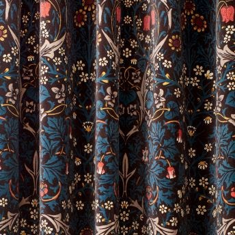 BLACKTHORN Velvet Curtain - Teal