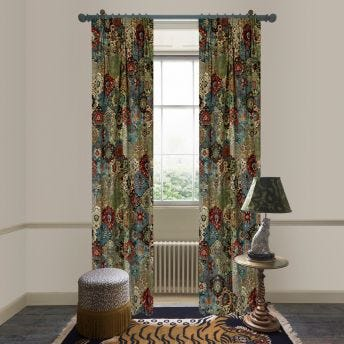 CASPAR Velvet Curtain - Forest