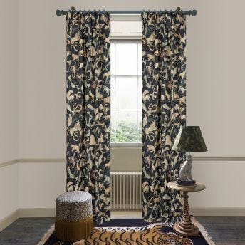 COSMOS Cotton Linen Curtain - Midnight