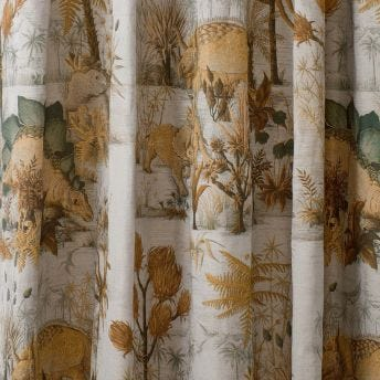 DINOSAURIA Cotton Linen Curtain - Dusk
