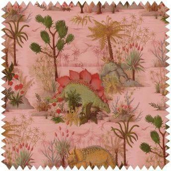 DINOSAURIA Cotton Linen Curtain - Plaster