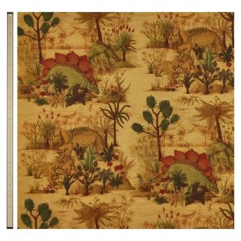 DINOSAURIA Cotton Linen Curtain - Turmeric