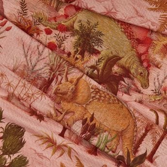 DINOSAURIA Cotton-Linen Fabric - Plaster
