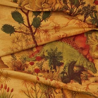 DINOSAURIA Cotton-Linen Fabric - Turmeric