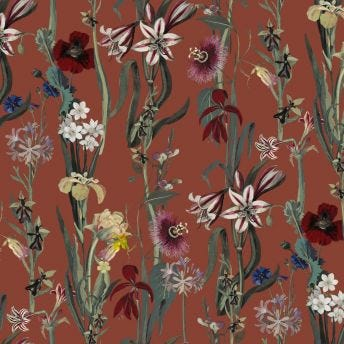FLORA DELANICA Wallpaper - Clay