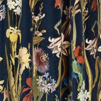 FLORA DELANICA Velvet Curtain - Midnight