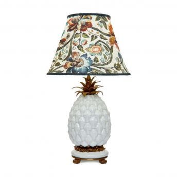 GAIA Marlow Ecru Lampshade with Ananas Pineapple Lampstand