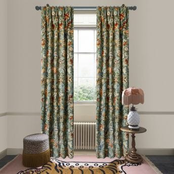 GAIA Velvet Curtain - Prussian Blue