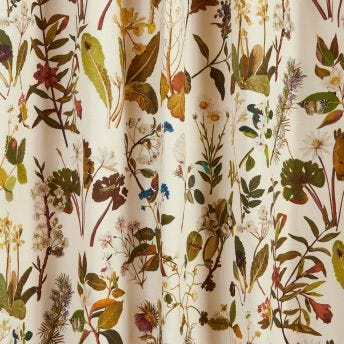 HERBARIUM Cotton Linen Curtain - Ecru
