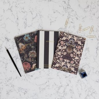 ARTEMIS & HYACINTH & STRIPE Set of Three A5 Flexi Notebooks