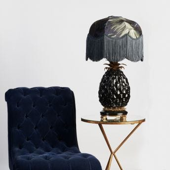 ANANAS Pineapple Table Lampstand - Black
