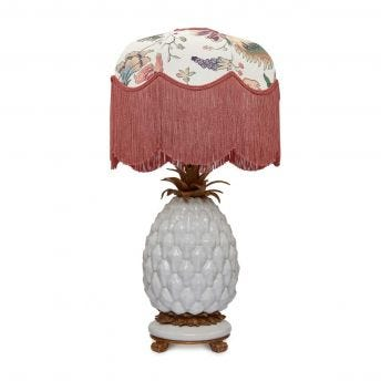 MAJORELLE Tilia Ecru Lampshade with Ananas Pineapple Lampstand