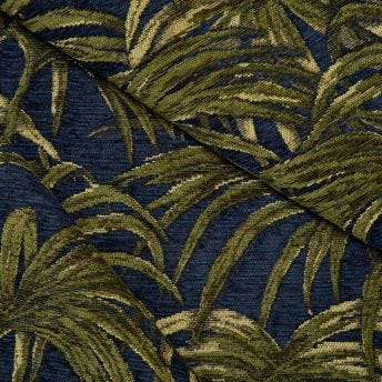 PALMERAL Chenille - Midnight/Green
