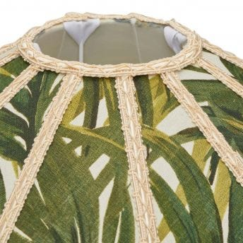 PALMERAL Nile Standard Lampshade - Off-White / Green
