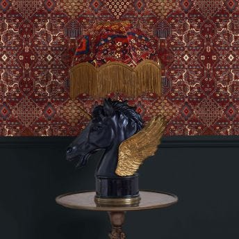 MEY MEH Oriella Sienna Table Lampshade with Pegasus Lampstand