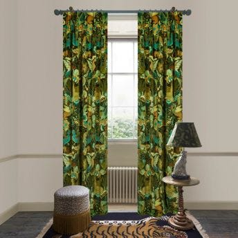 PHANTASIA Velvet Curtain - Emerald Green