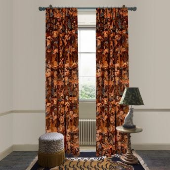 PHANTASIA Velvet Curtain - Selenite Orange