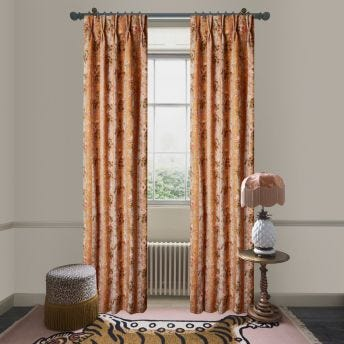 RAINBOW ROSE Cotton Linen Curtain - Dusk Stripe