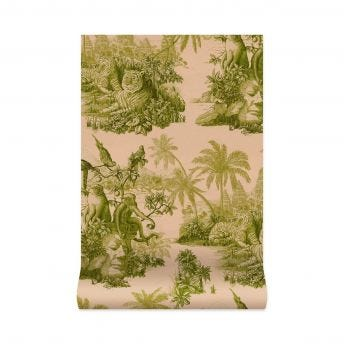 SUMATRA Wallpaper - Blush / Pear-Green