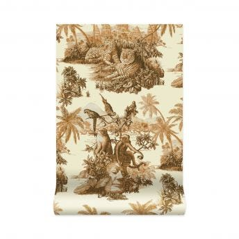 SUMATRA Wallpaper - Off-White & Taupe