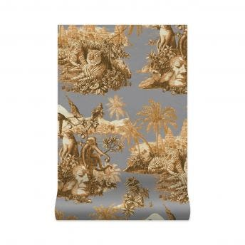 SUMATRA Wallpaper - Smoke & Taupe