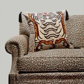 TIGRIS Large Velvet Cushion - Dove-Grey