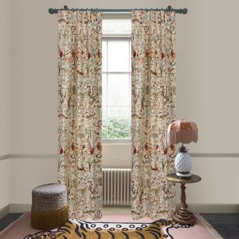 TREMATONIA Jacquard Curtain - Ecru