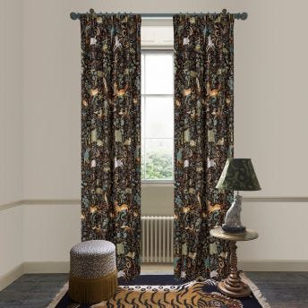 TREMATONIA Jacquard Curtain - Onyx