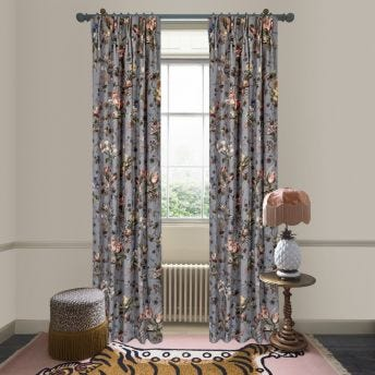 TULIPA Velvet Curtain - Pewter