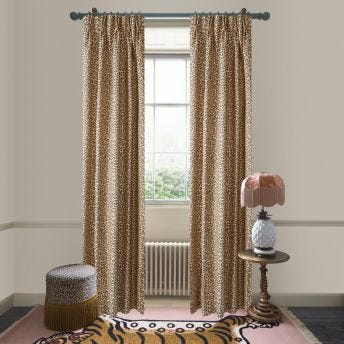 WILD CARD Jacquard Curtain - Butterscotch