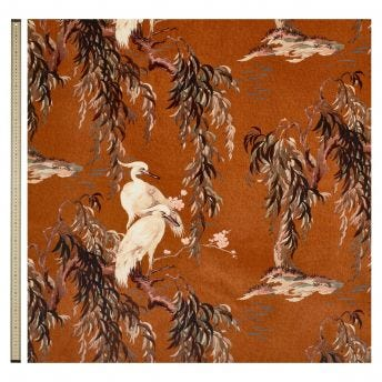ZEUS Velvet Curtain - Tobacco